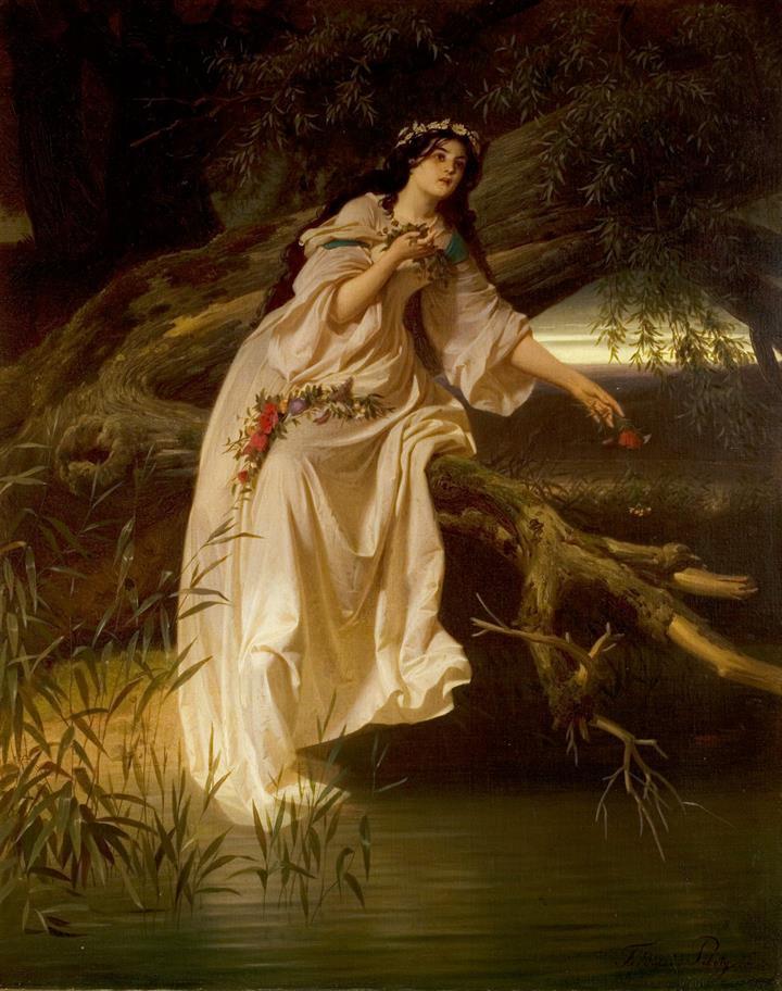 Ophelia artwork by Ferdinand Piloty II