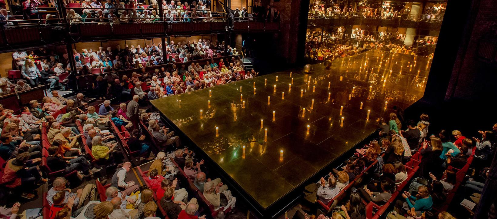 Audience at the Royal Shakespeare Theatre in Stratford-upon-Avon