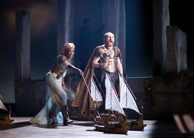 Antony and Cleopatra move their fleet of model ships