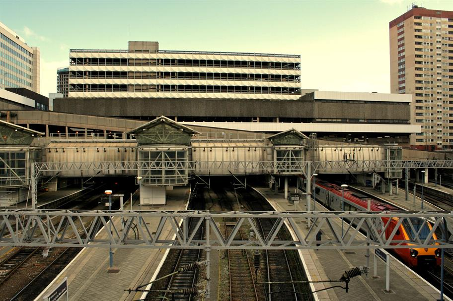 A view of Birmingham New Street before the rebuild.