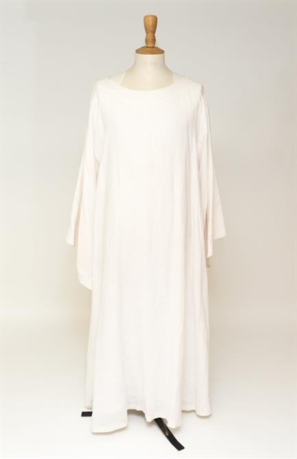 Long flowing white robe