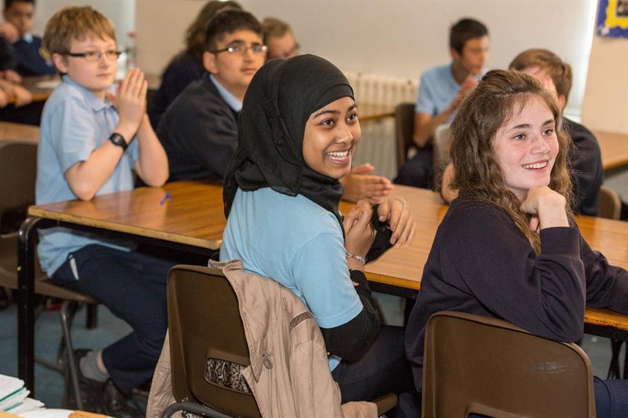 School pupils enjoy a live RSC broadcast.