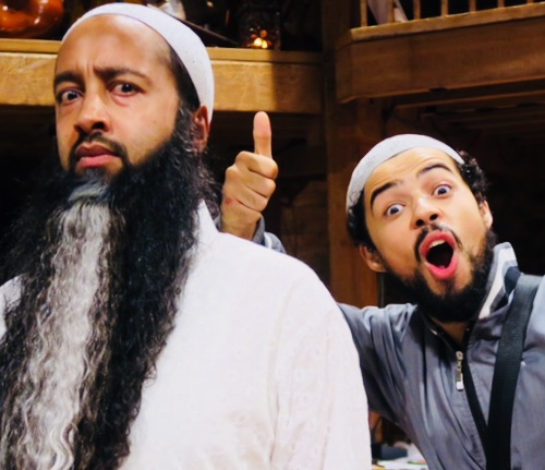 Asif and Riad in costume