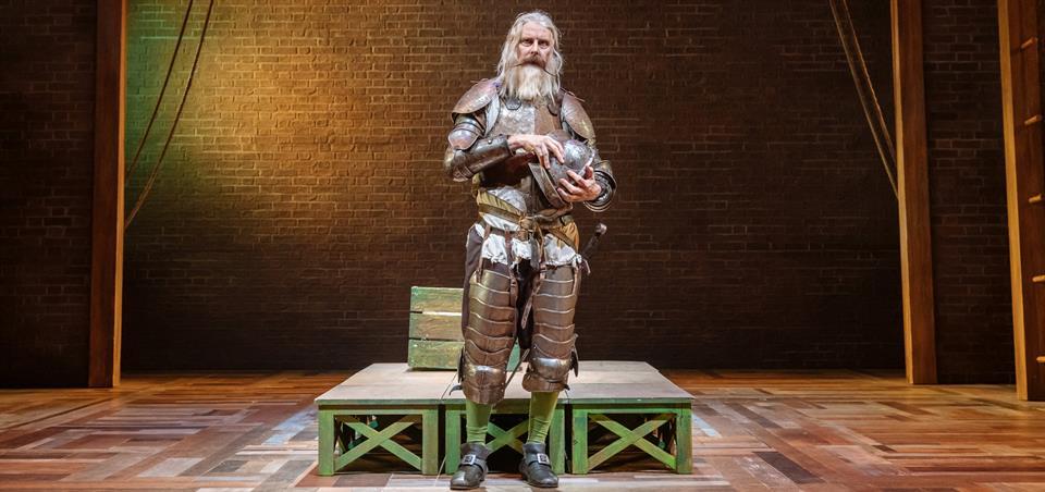 David Threlfall on Don Quixote armour