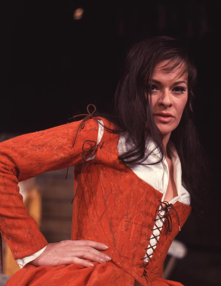 Janet Suzman as Katherina in our 1967 production of The Taming of the Shrew.