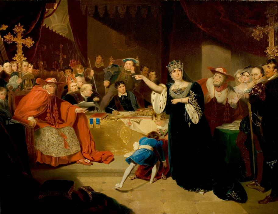 The Trial of Queen Katherine by George Henry Harlow