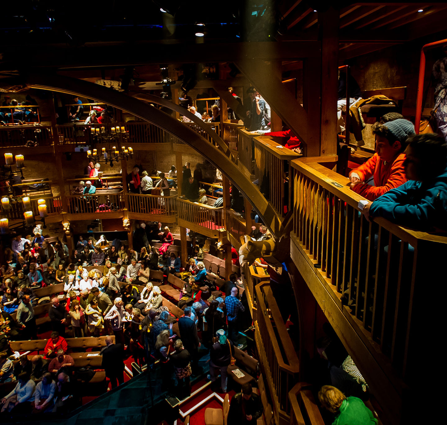 People in the Royal Shakespeare Theatre