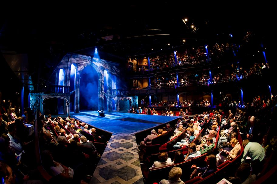 Audience facing the stage for Richard II