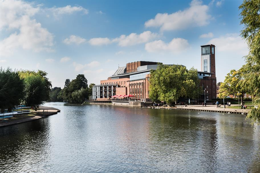 A view of the Royal Shakespeare Theatre from across the river