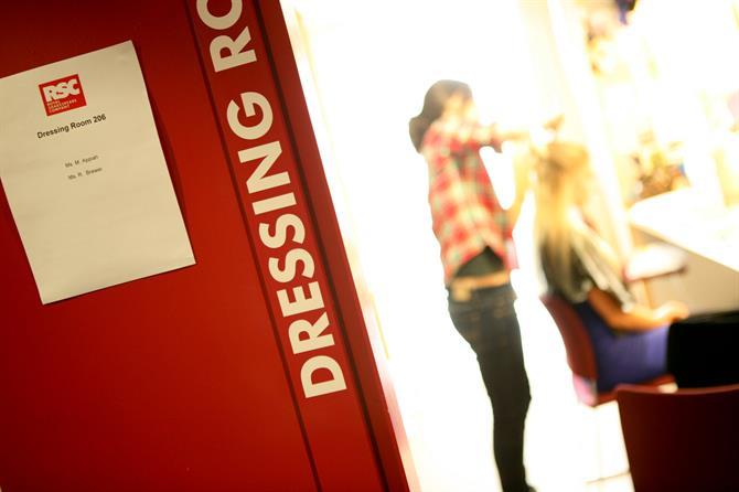 Photo of an Actor's dressing room door