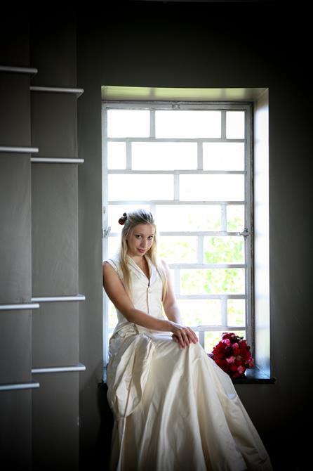 Bride in our Round Room in the Rooftop Restaurant