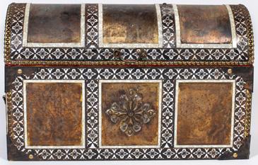 ornate metal casket