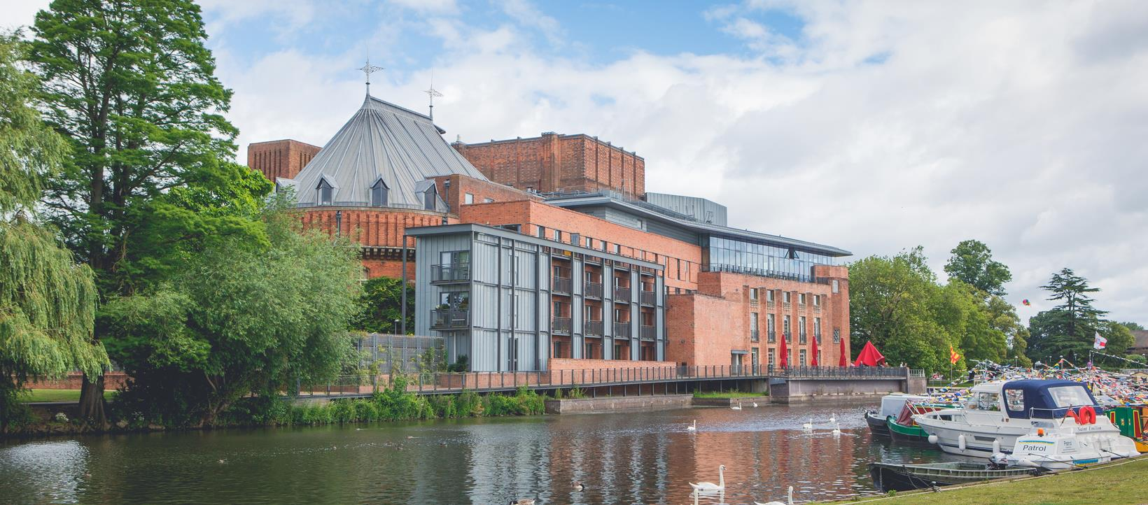 royal shakespeare company rsc outside of the rst from opposite side of the river taken from swan theatre end