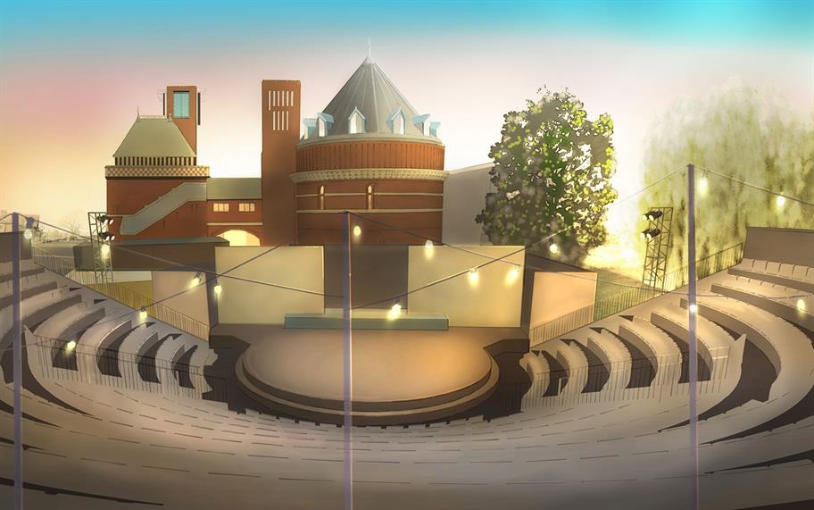 A visualisation of the Garden Theatre.