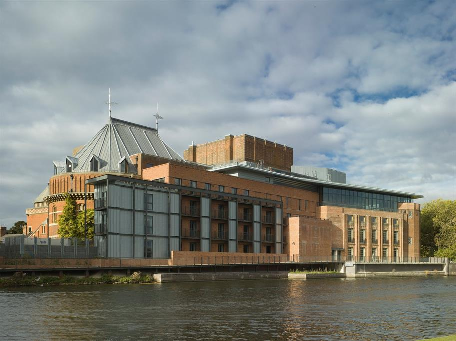 Royal Shakespeare Theatre riverside view 2010 by Peter Cook