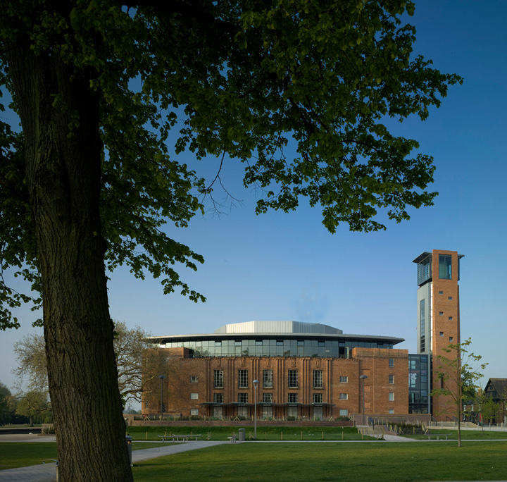 Royal Shakespeare Theatre from the Bancroft Gardens