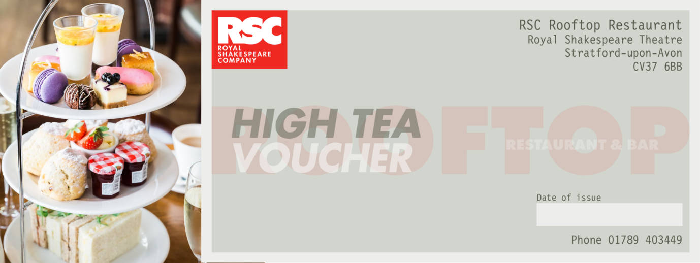 Rooftop High Tea voucher