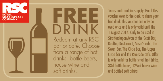 Free Drink voucher July 2016