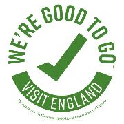 Good To Go green and white logo from Visit England