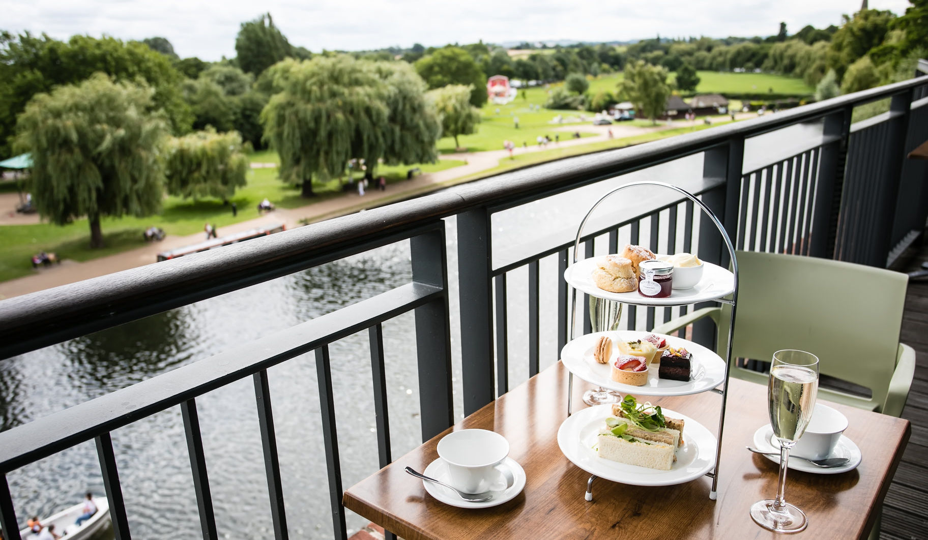 High tea in the Rooftop Restaurant by the River Avon