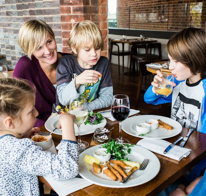 Image result for family time with kids in cafe