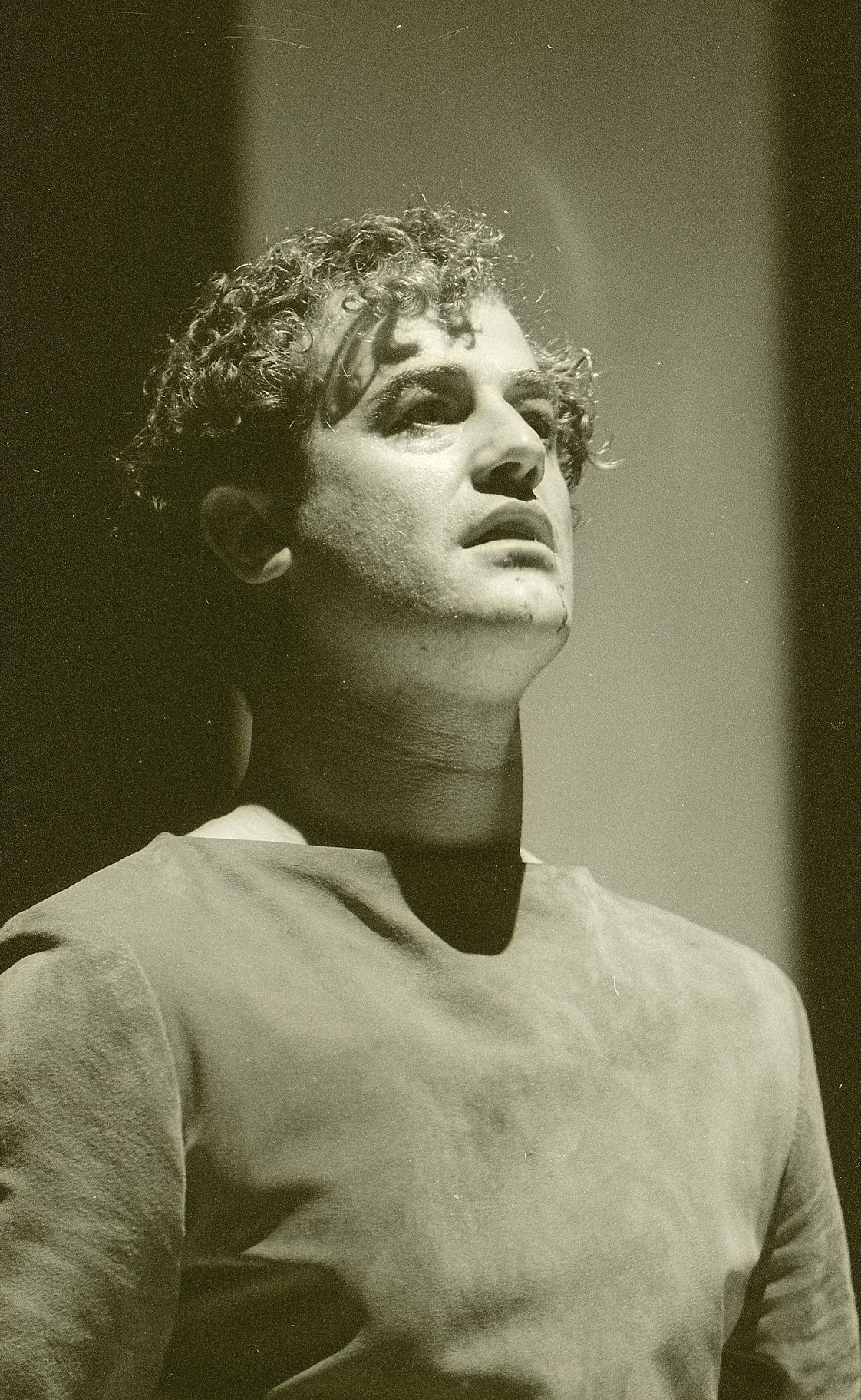 Mark Antony looking upwards