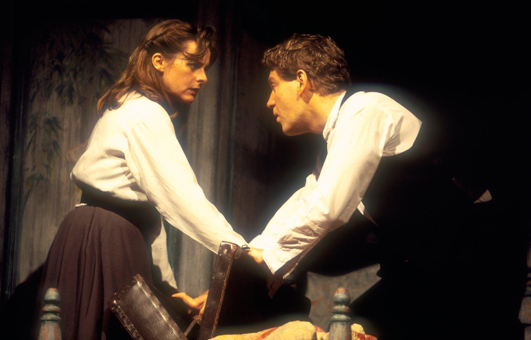 Hamlet torments Ophelia.