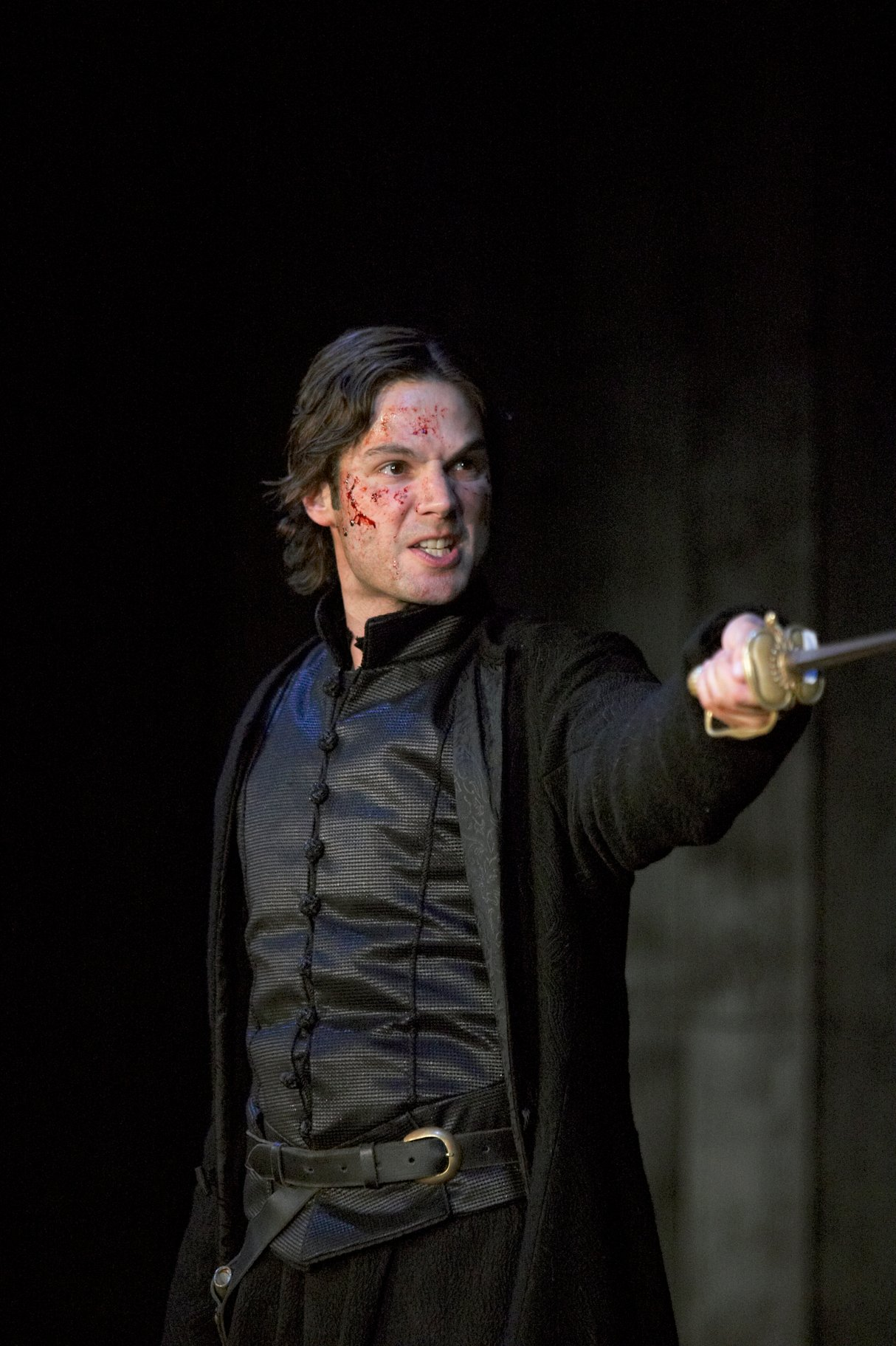 Laertes holding a sword