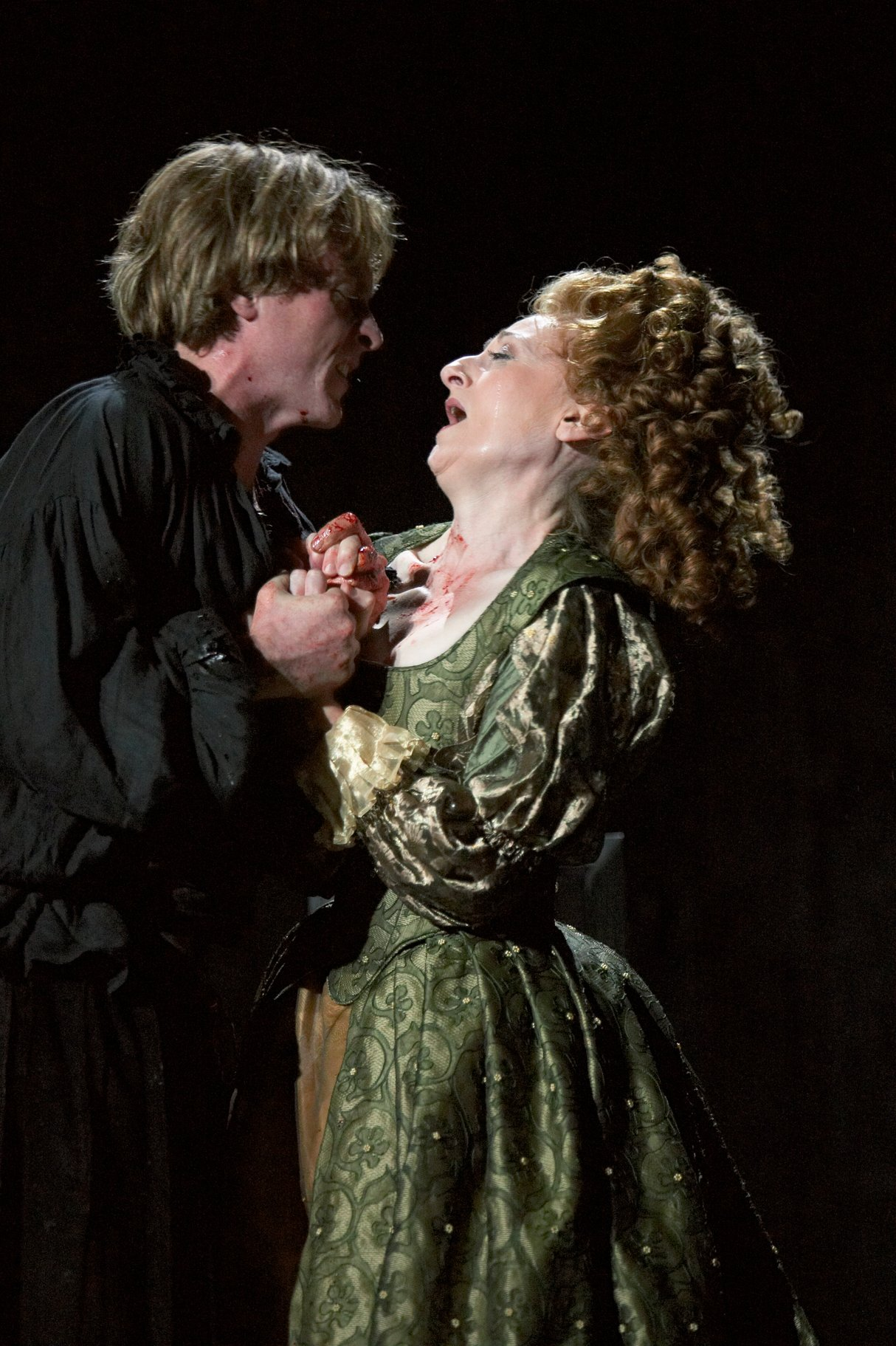 Hamlet and Gertrude in the 2004 production of Hamlet.