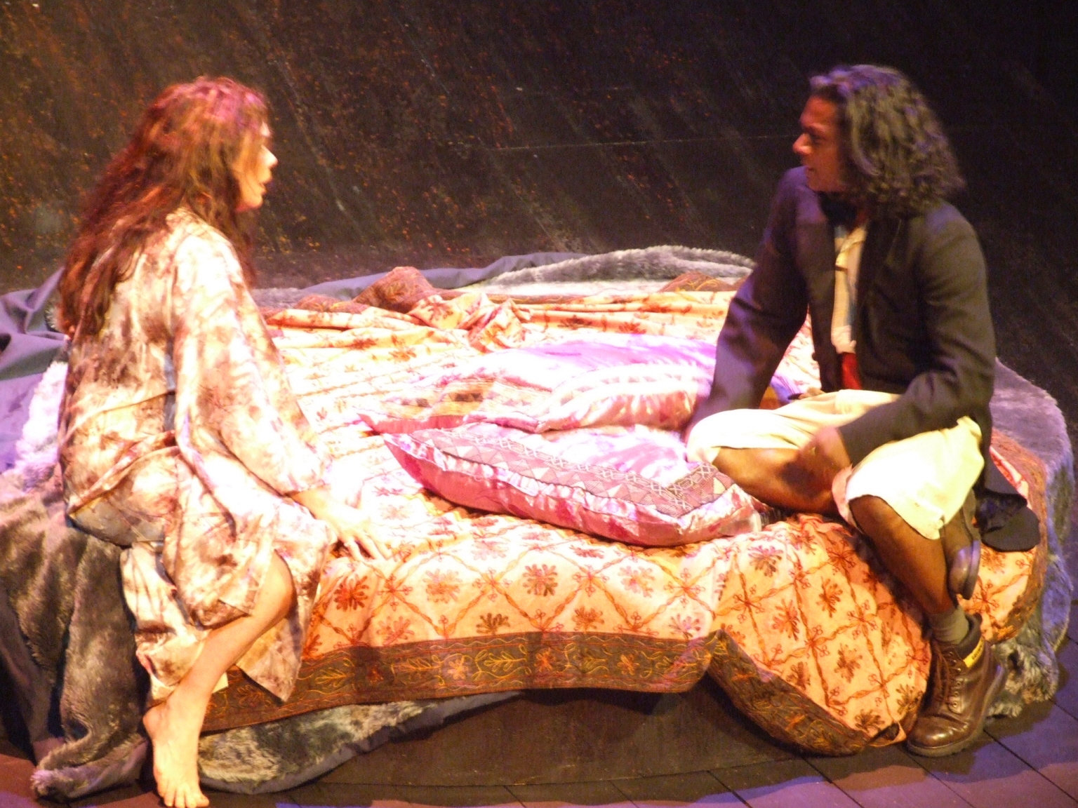 Hamlet and Gertrude in the 2006 production of Hamlet.