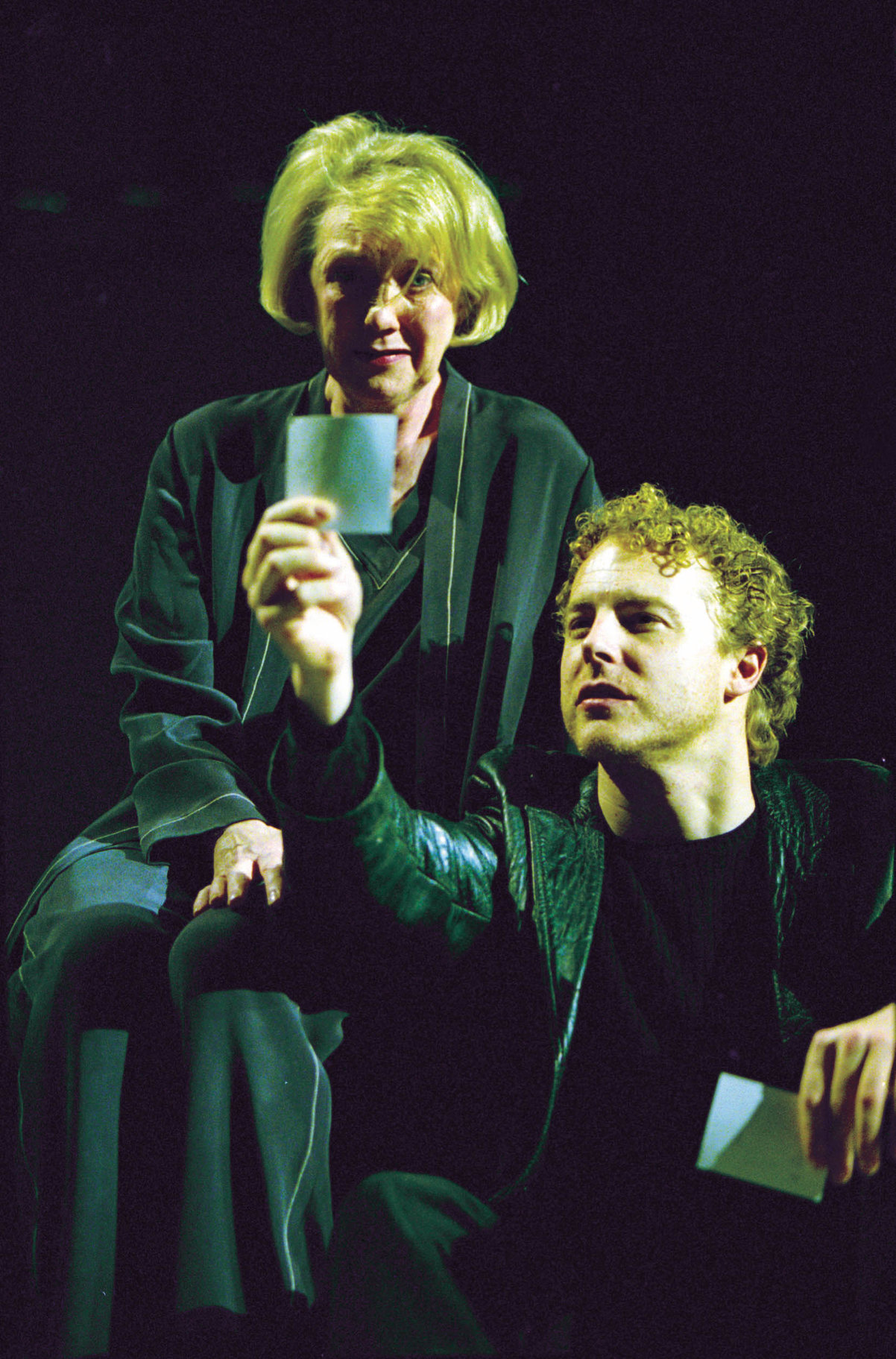 Hamlet and Gertrude in the 2001 production of Hamlet.
