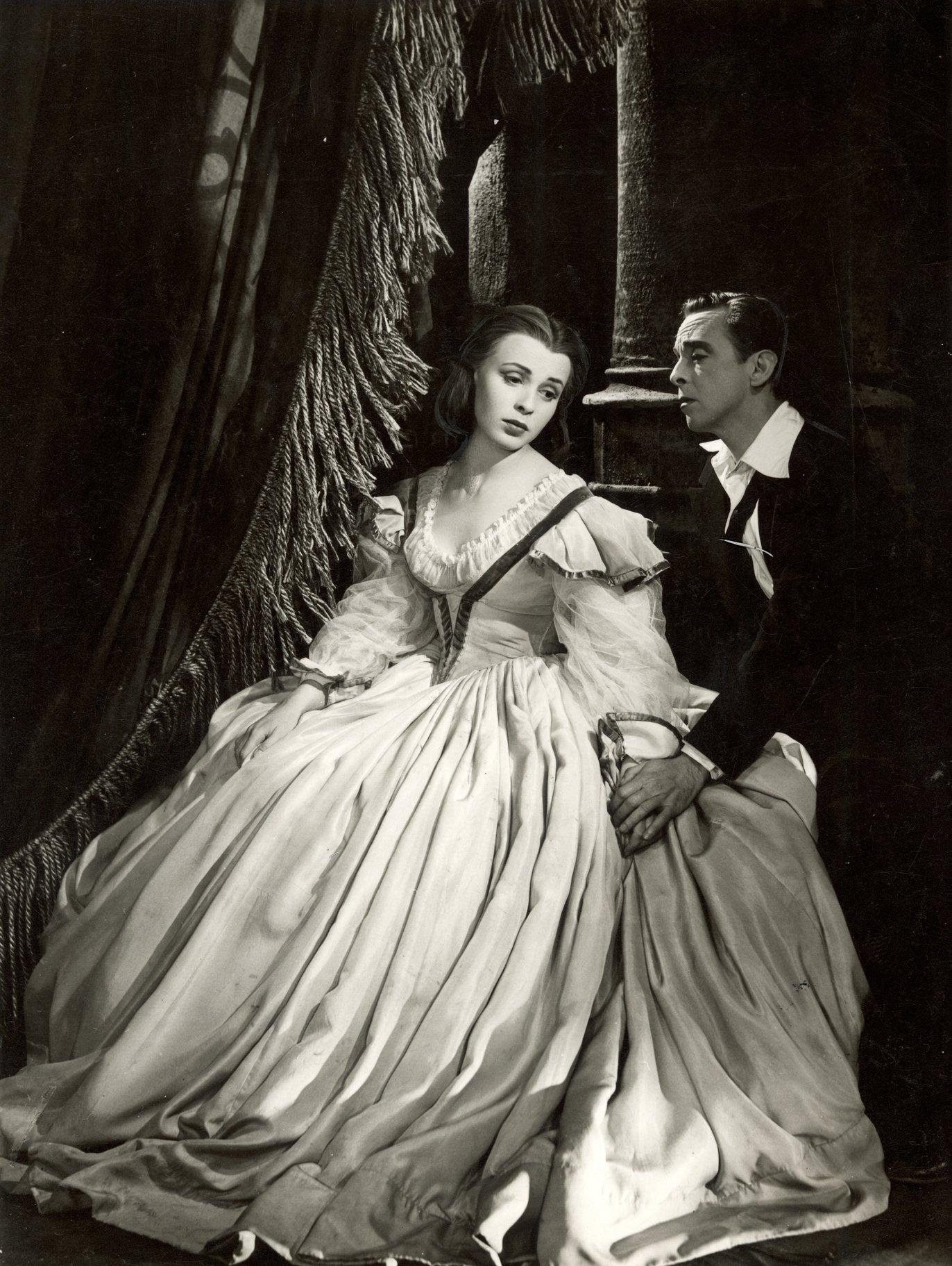 Ophelia and Hamlet.