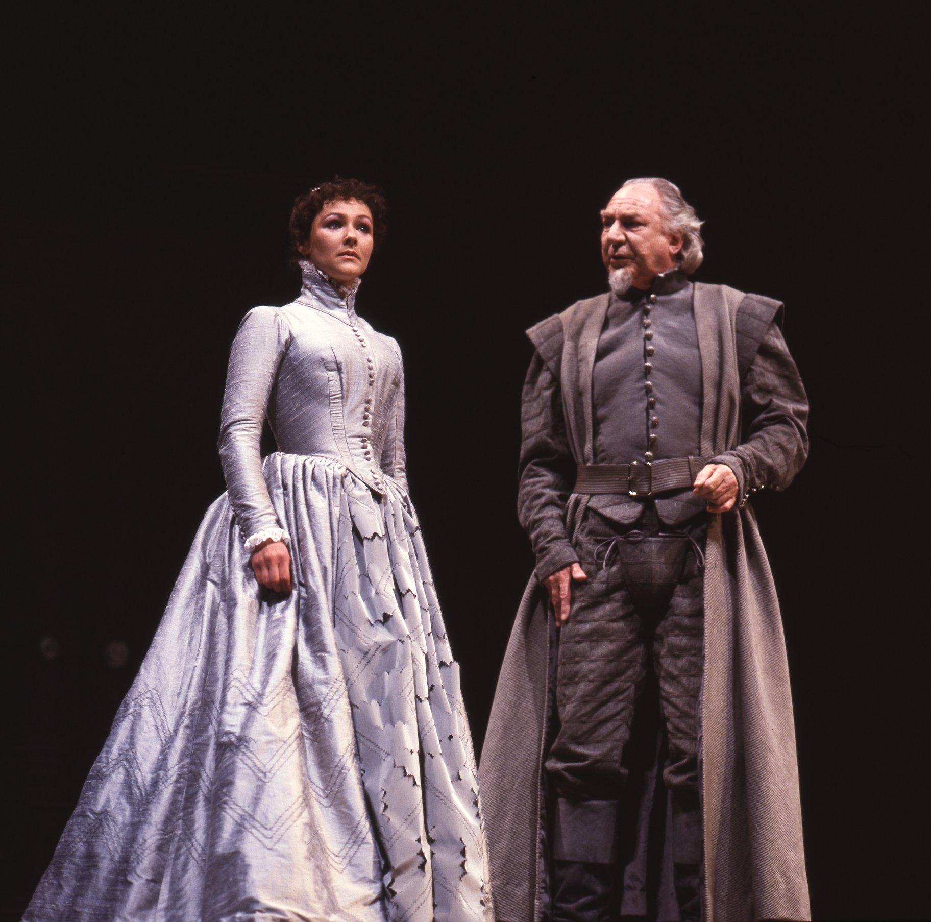 Ophelia and Polonius.