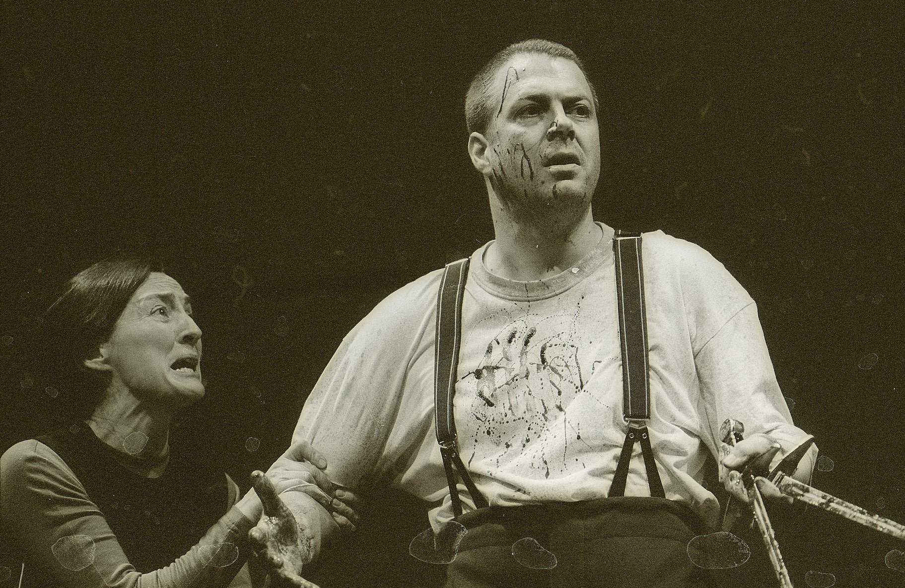 Lady Macbeth and Macbeth after Duncan's murder.