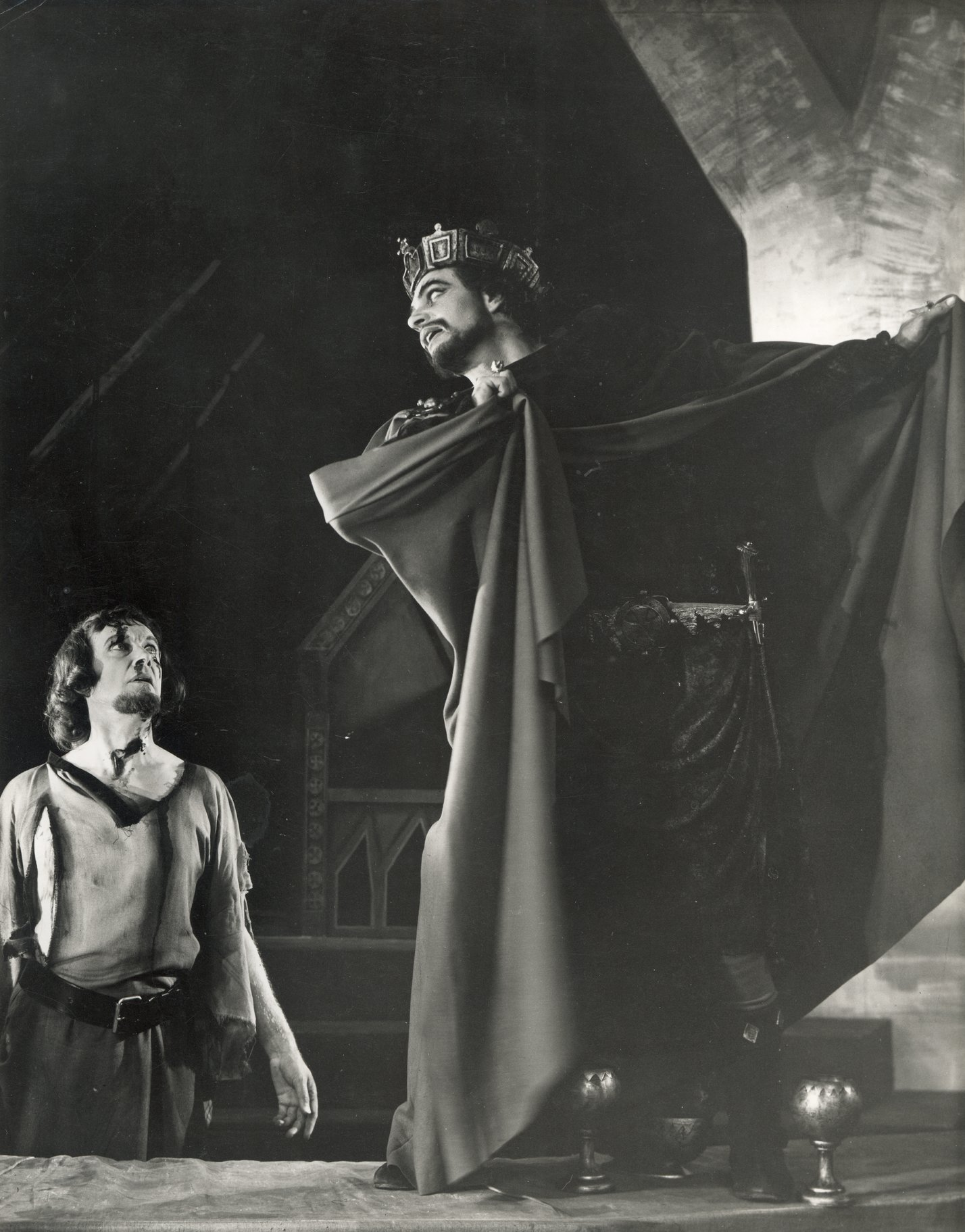 Macbeth sees Banquo's ghost.
