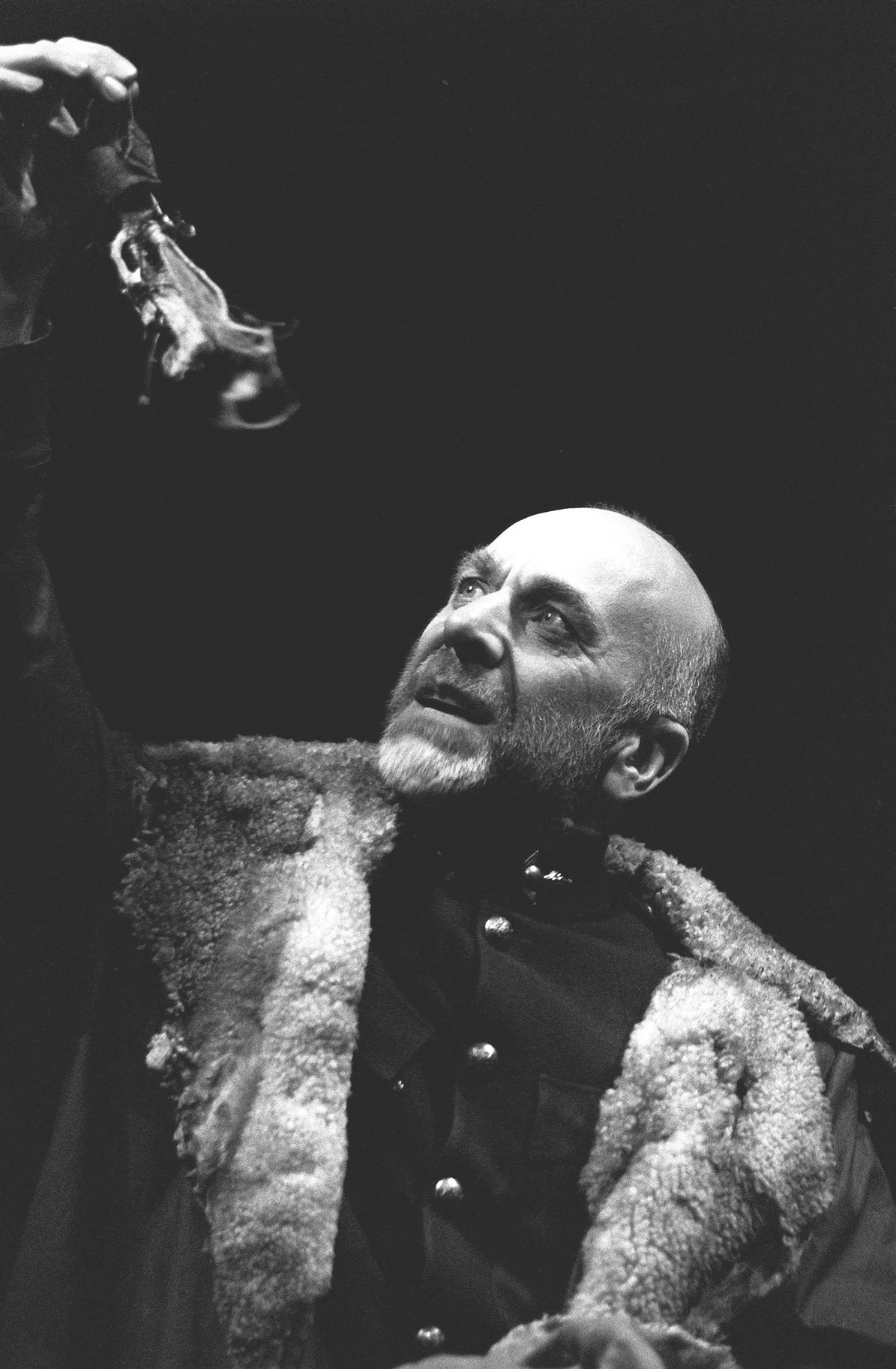 Banquo in a fur-lined coat.
