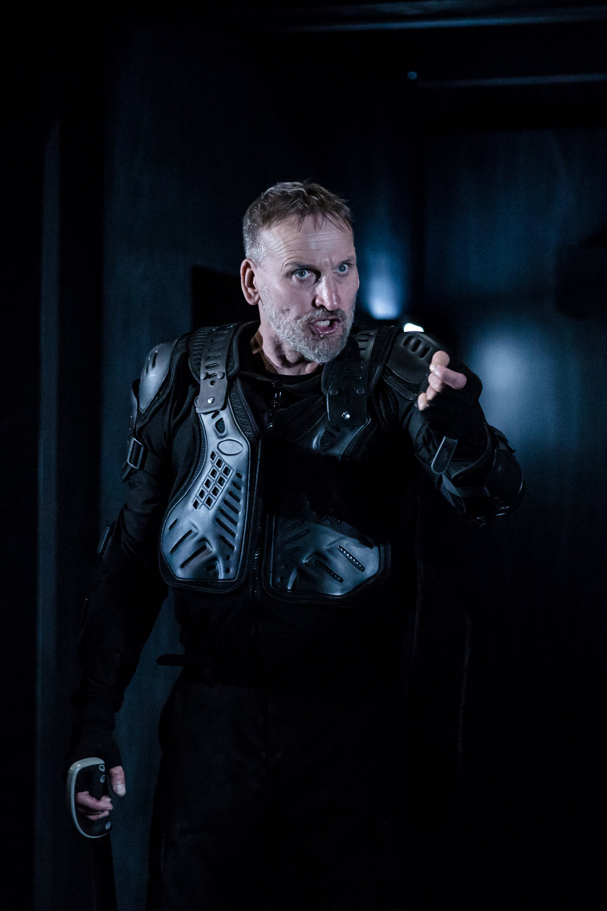 Macbeth in body armour.