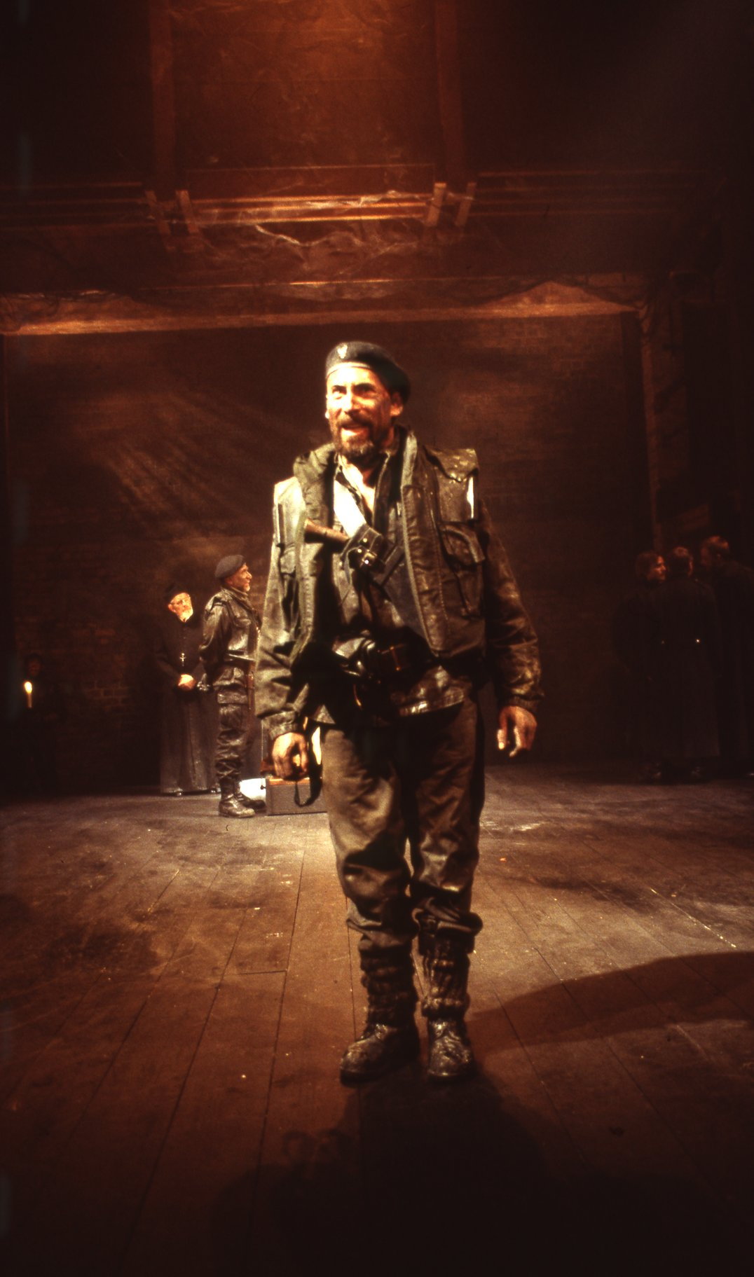 Macbeth dressed as a soldier.