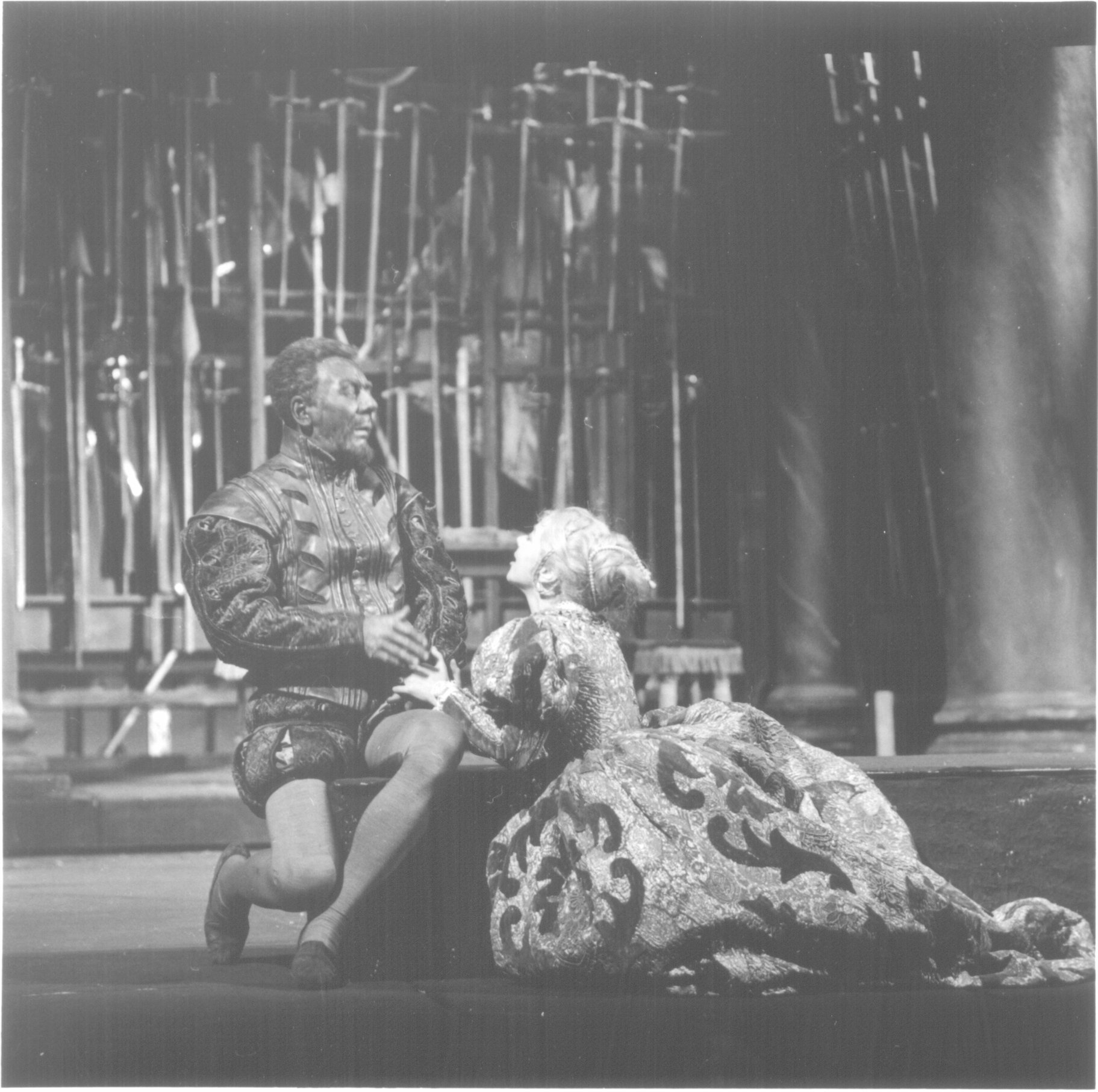 Othello and Desdemona in 1961.