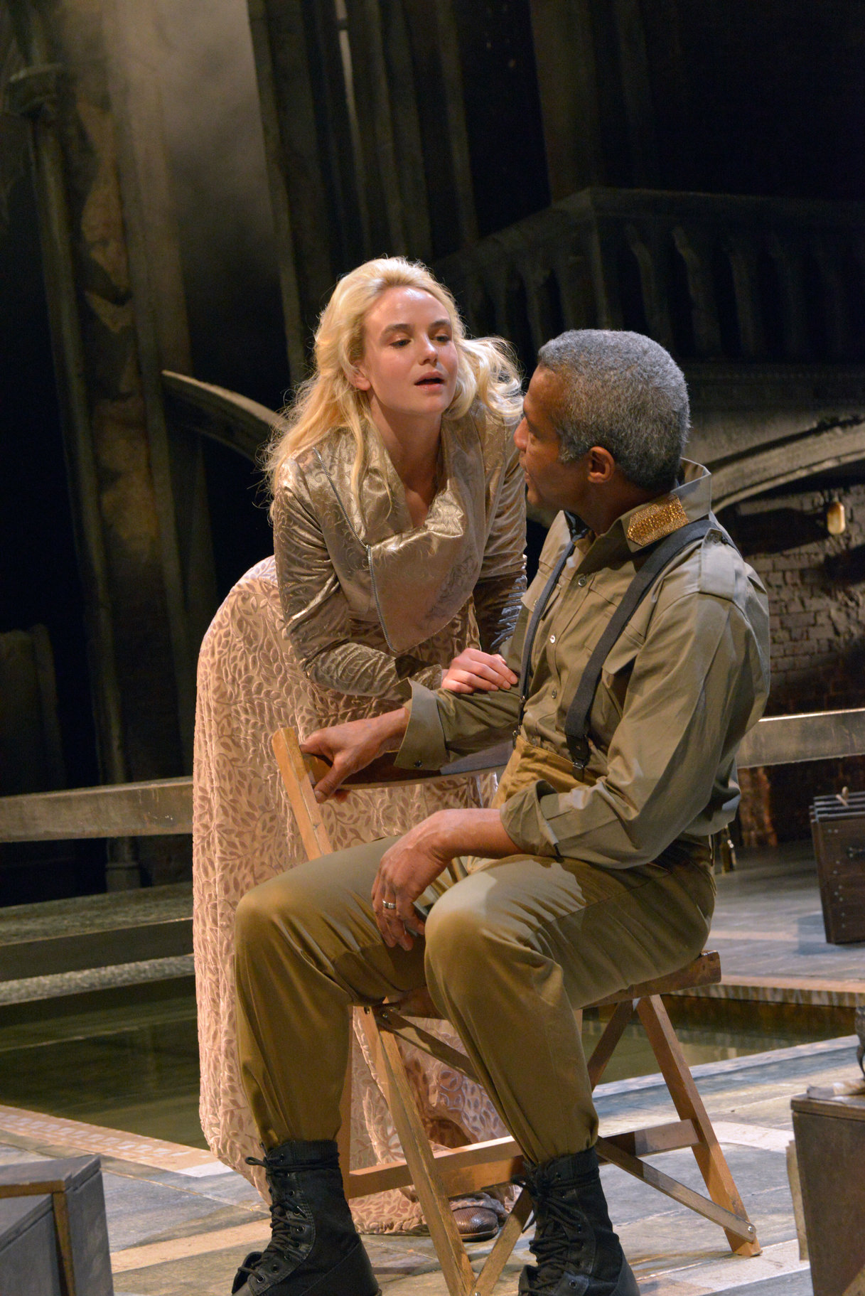 Desdemona and Othello.