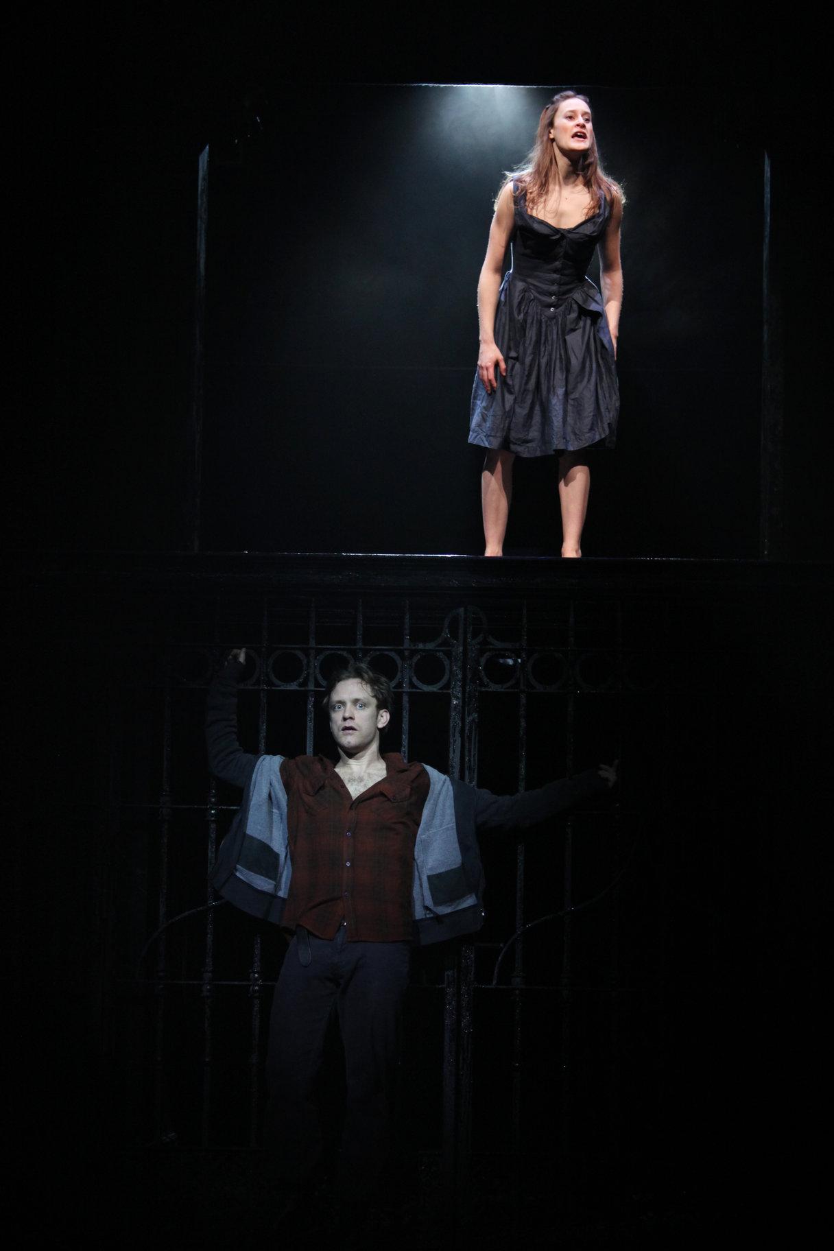 Romeo overhears Juliet.