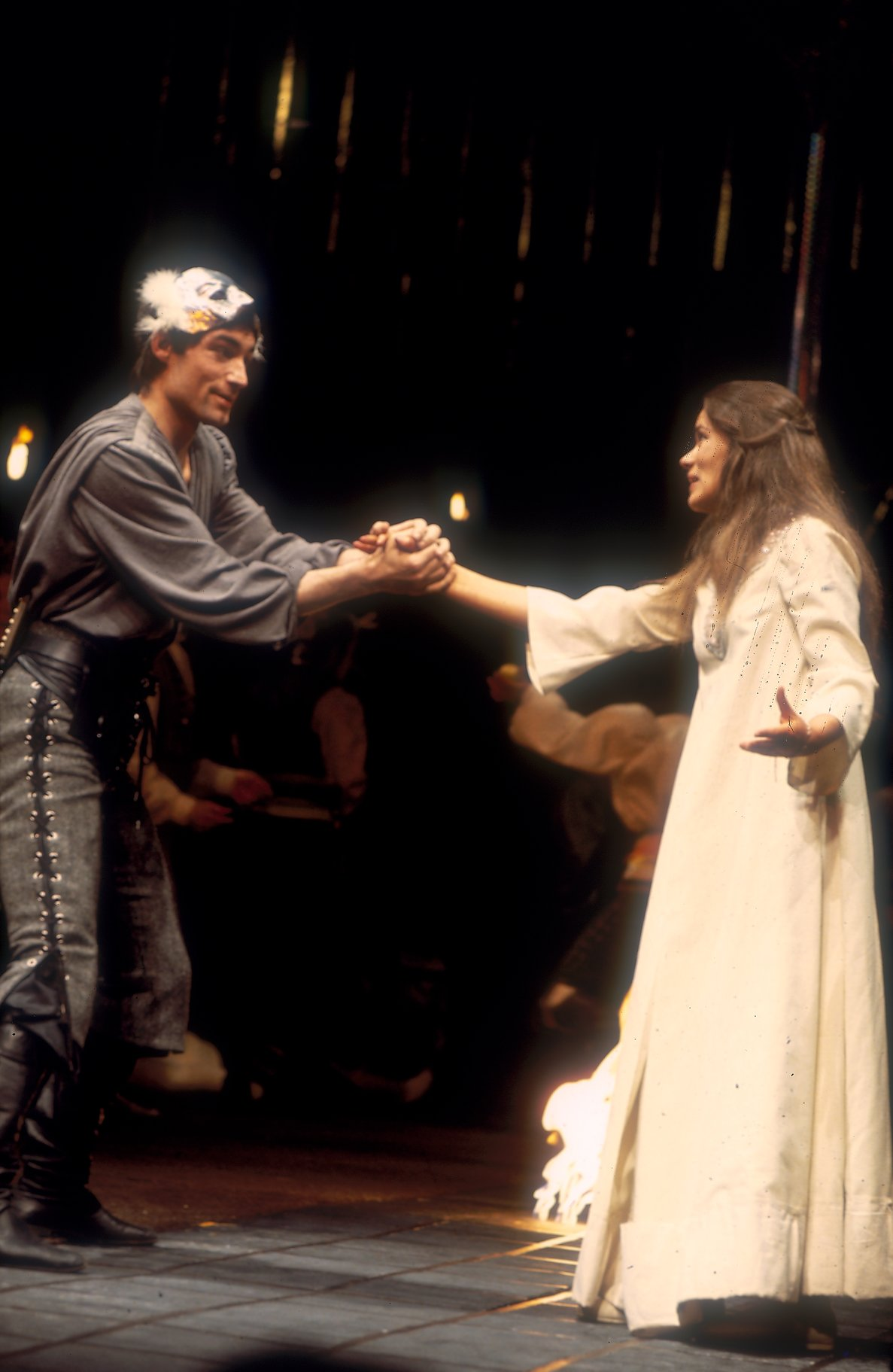Romeo and Juliet meet during the Capulets' Feast.