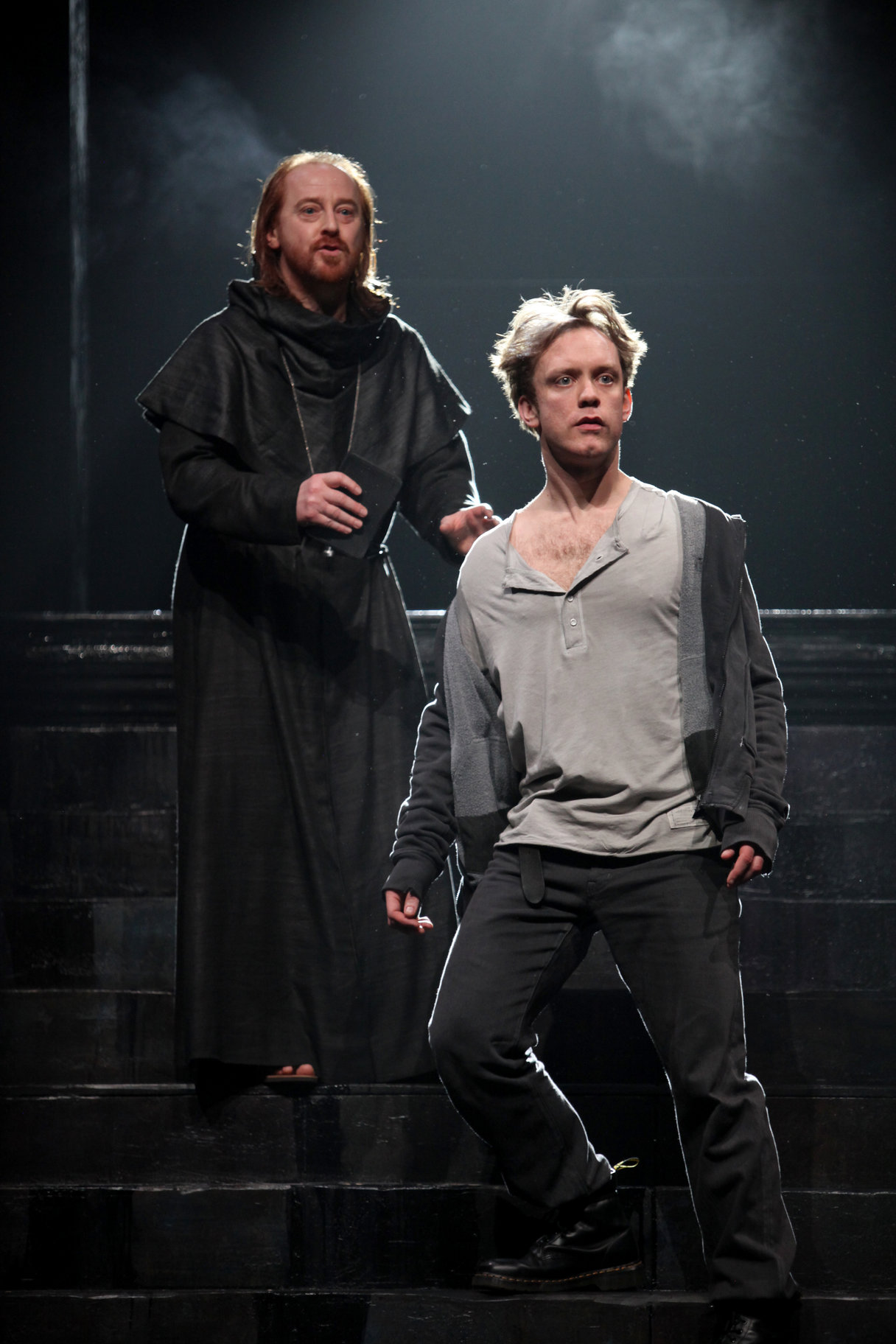Friar Laurence and Romeo.