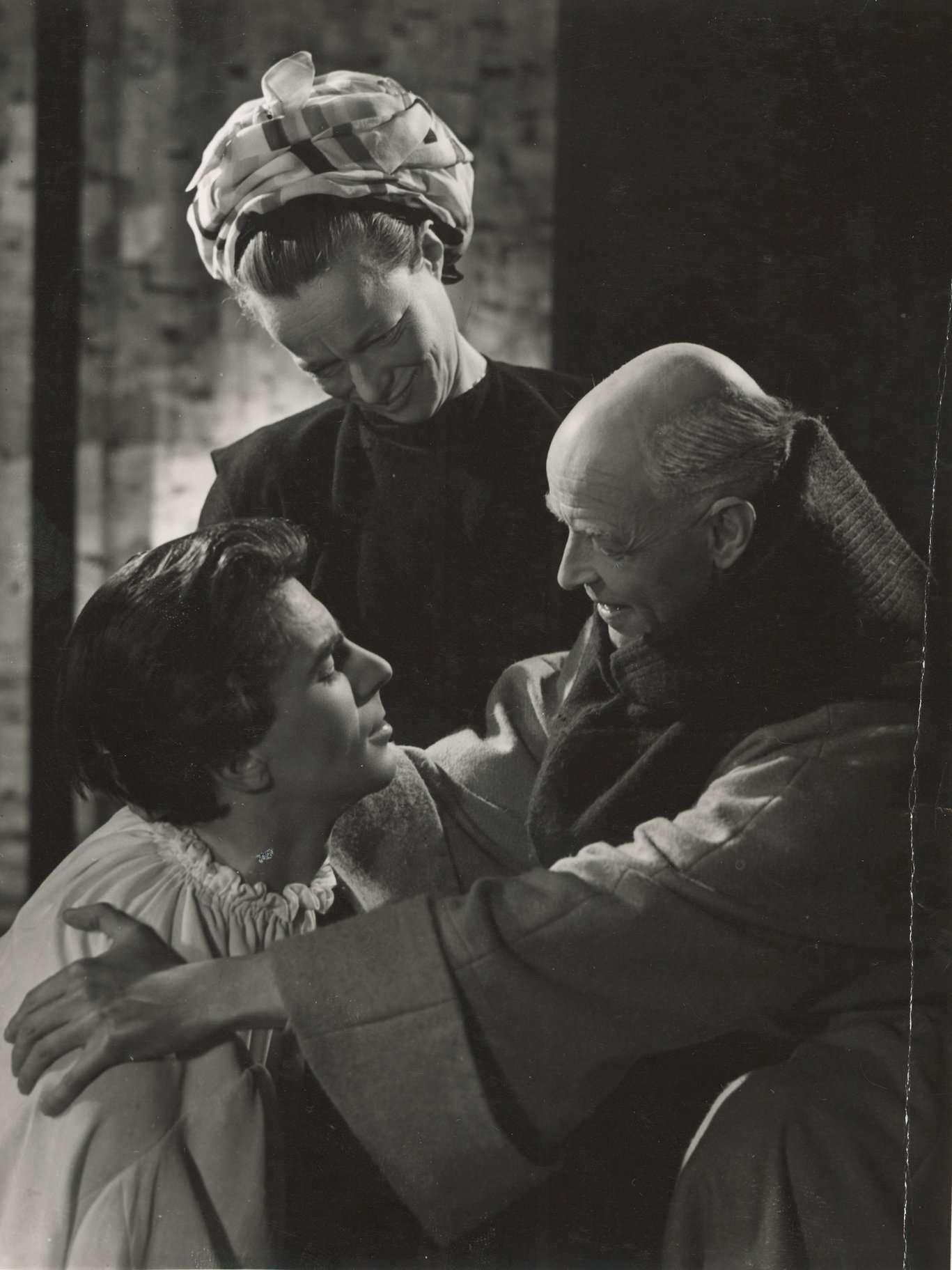 The Nurse and Friar Laurence console Romeo.