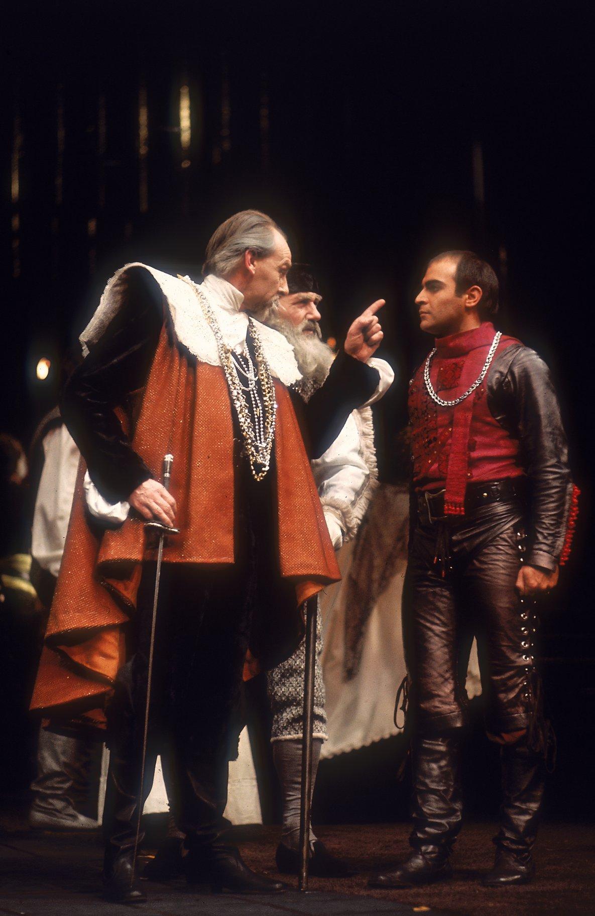 Capulet chastises Tybalt.