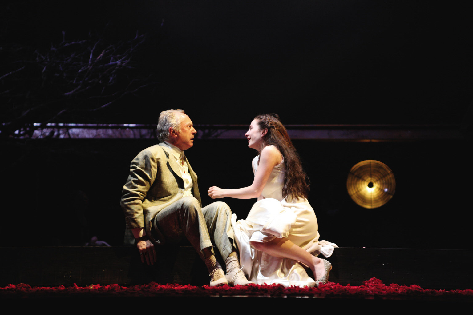 Juliet pleads with Capulet.