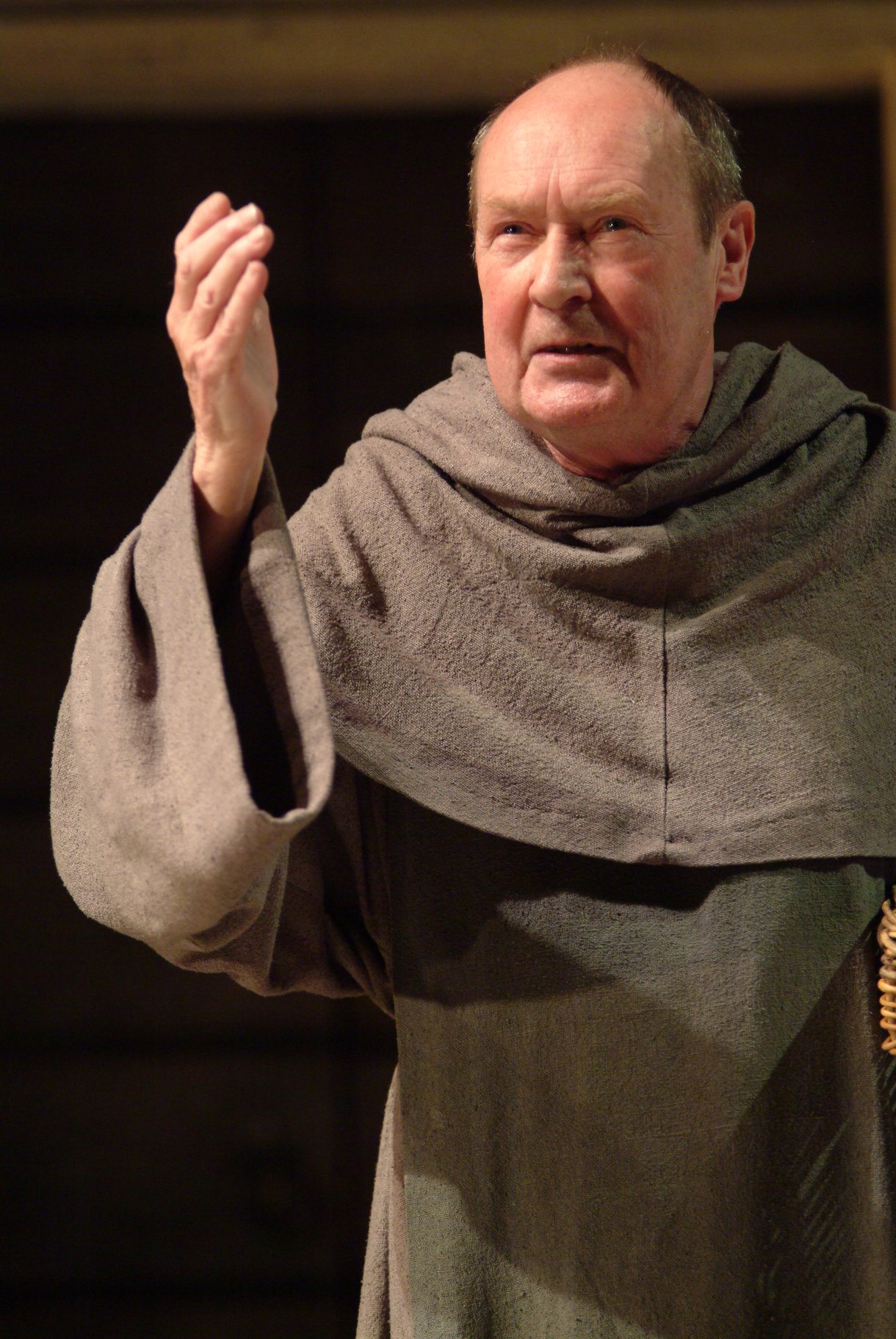 Friar Laurence in his cassock.