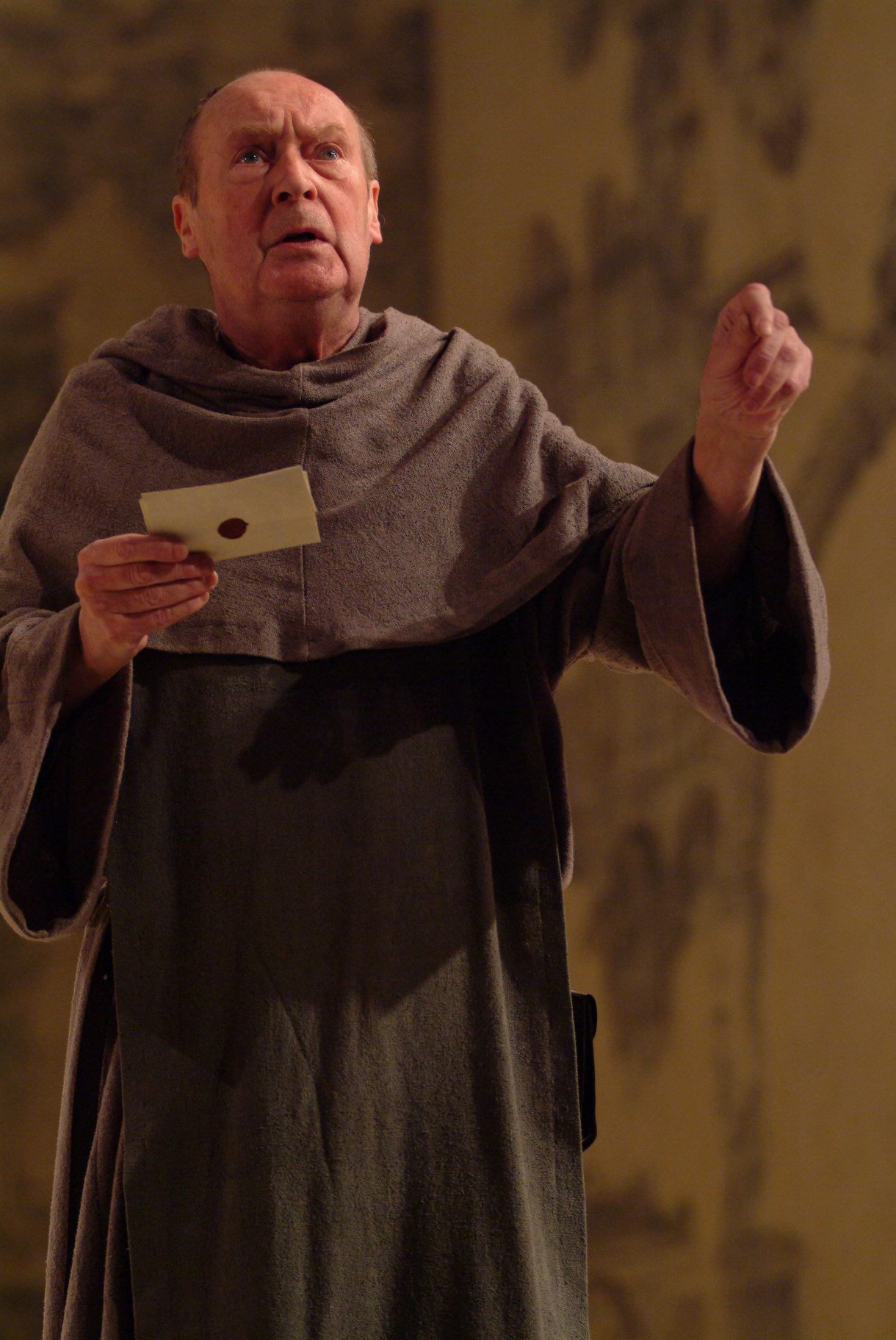 Friar Laurence with his message for Romeo.