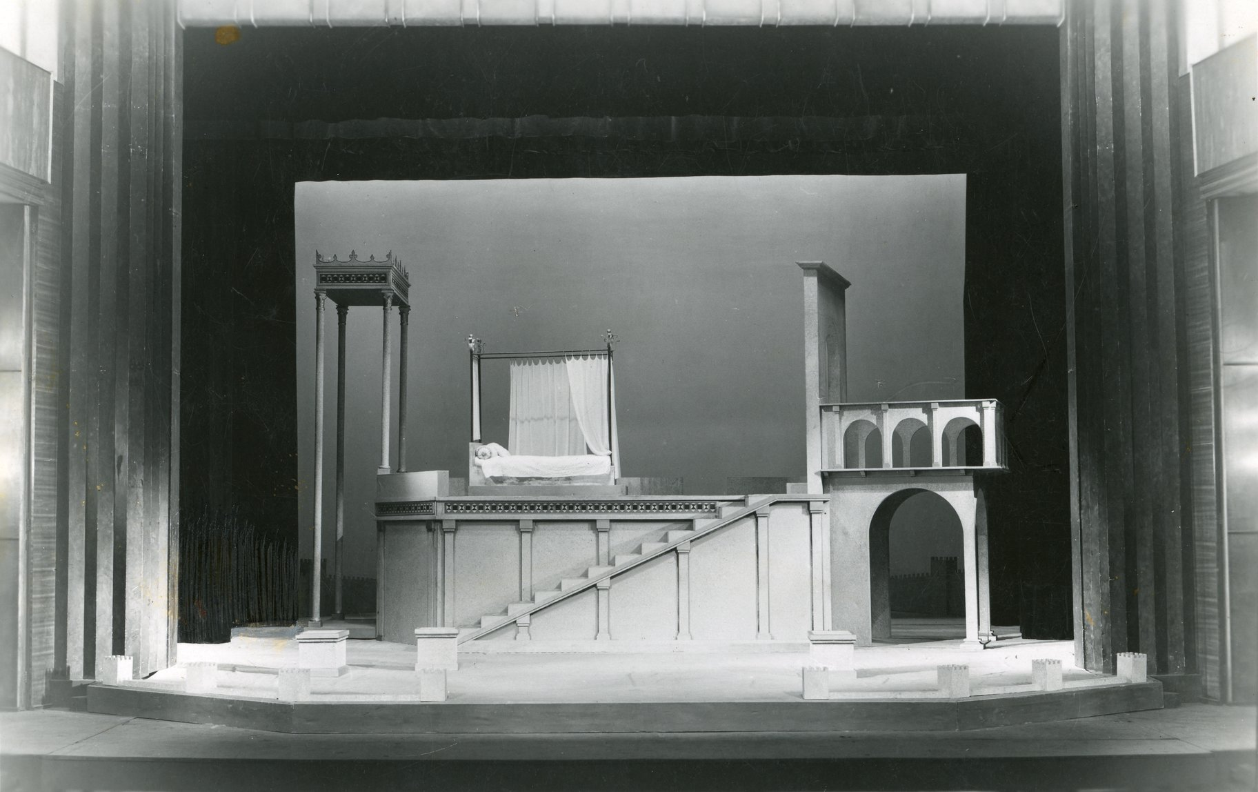 The 1947 set for the Capulet house.