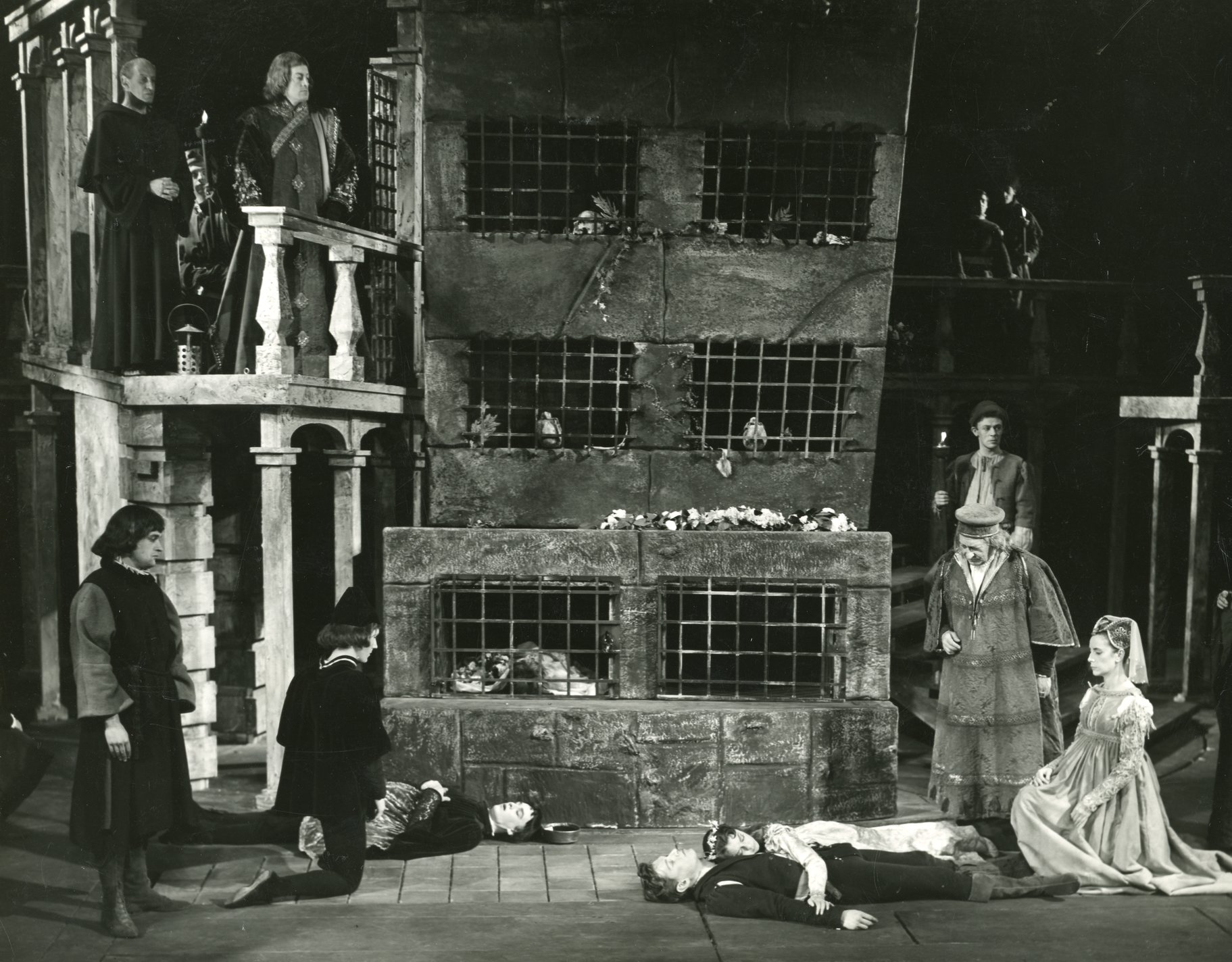 The dead lovers at the end of the play.